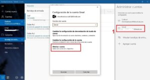 Quitar cuenta outlook hotmail